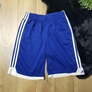 Adidas Blue Shorts three stripe Boy Youth